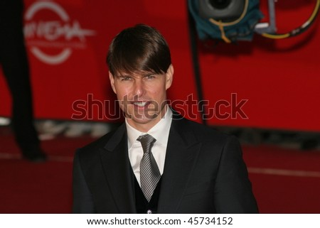 ROME - OCTOBER 23: Tom Cruise attends a premiere for 'Lions For Lambs' during day 6 of the 2nd Rome Film Festival on October 23, 2007 in Rome, Italy. - stock photo