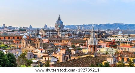 Rome Panorama - stock photo