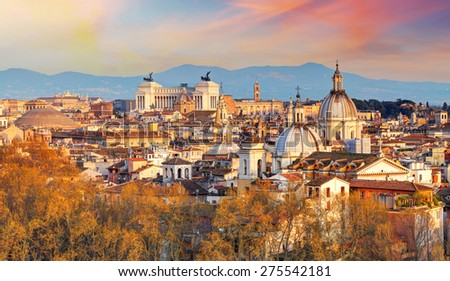 Rome - skyline, Italy - stock photo