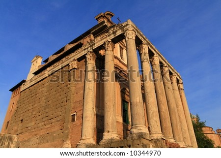 Rome. Temple of Antoninus and Faustina at Rome