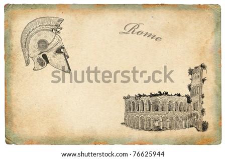 Rome theme illustration - stock photo
