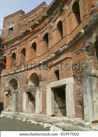 Rome - Trajan's forum and market: a complex of ancient architecture with XV Century additions