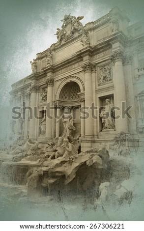 Rome view - stock photo