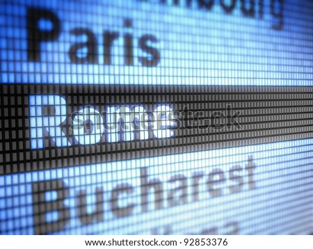 Rome. World capitals  Full collection of icons like that is in my portfolio - stock photo