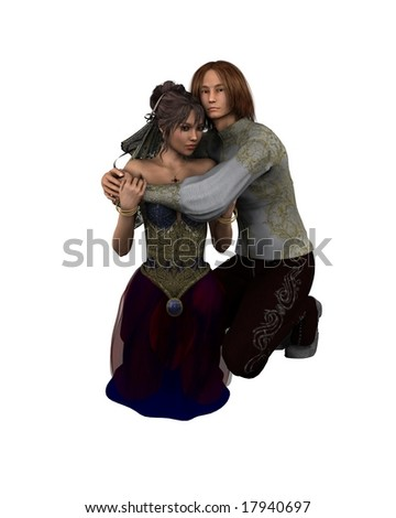 Romeo and Juliet - Shakespeare's characters - stock photo