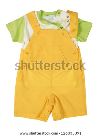 rompers and shirt - stock photo