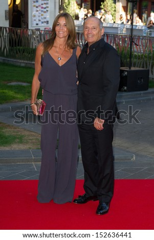 "Ron Dennis and Lisa Dennis arriving for the ""Rush"" World premiere at the Odeon Leicester Square, London. 02/09/2013"