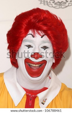 Ronald McDonald  at Camp Ronald McDonald's 16th Annual Family Halloween Carnival. Universal Studios, Universal City, CA. 10-26-08 - stock photo
