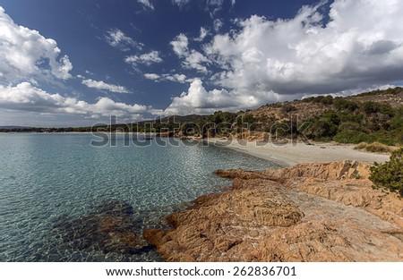 Rondinara beach, Corsica, France - stock photo