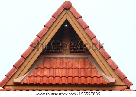 Roof and gable of the house  - stock photo