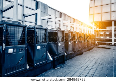 Roof central air conditioner - stock photo