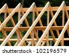 roof construction in Polperro in Cornwall - stock photo