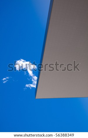 Roof edge with Rocky Mountain Blue Sky