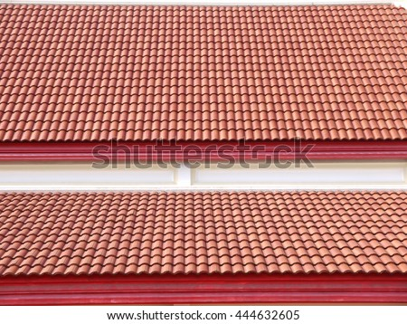 Roof house with tiled roof  - stock photo