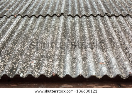 Roof is covered with gypsum together - stock photo