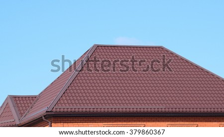 Roof metal sheets modern types roofing stock photo for Modern roofing materials