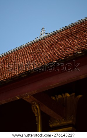 roof of Buddhist temple in Luang Prabang, Lao - stock photo