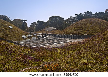 Roof of California Academy of Sciences at San Francisco - stock photo