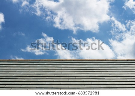 Roof of house and Clear Sky
