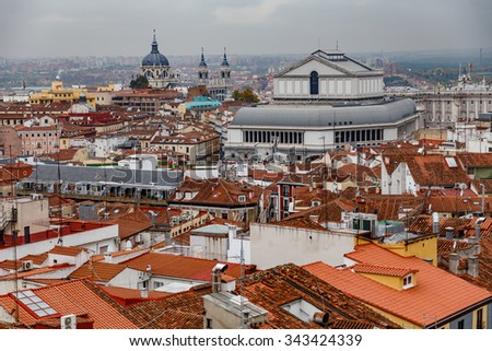 Roof of Madrid - stock photo
