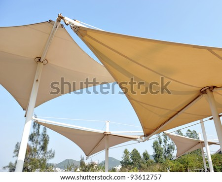 Roof of sails to create shade