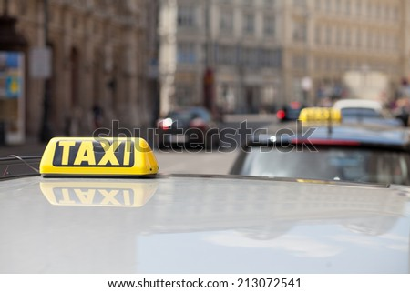roof of taxi car - stock photo