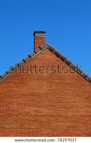 Roof over blue sky - stock photo
