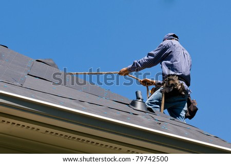 Roof Repair - stock photo