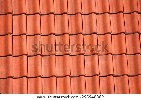 Roof tile pattern, red background texture