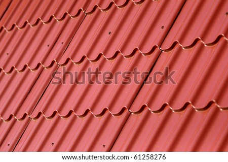 Roof tiles close up detail - stock photo