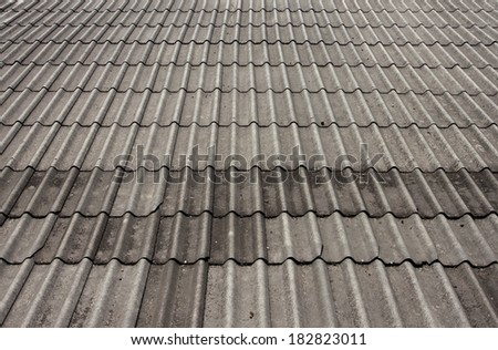 Roof tiles of a Thai house.