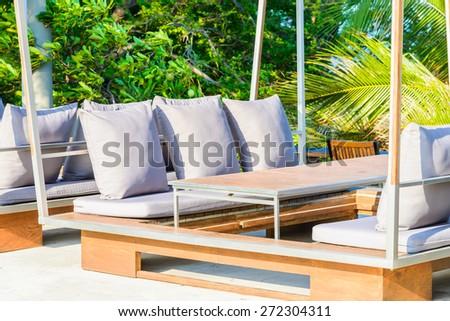 Roof top terrace - stock photo