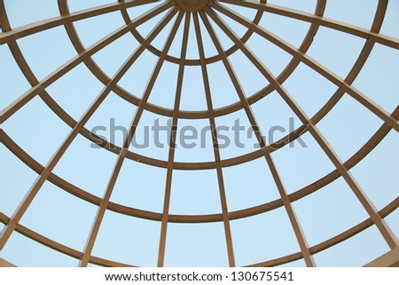 Roof top web on isolated blue sky - stock photo