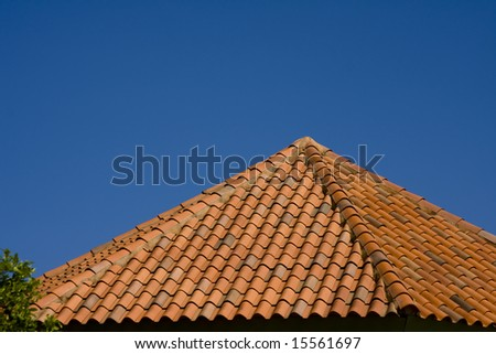Roof top with sky with copy space