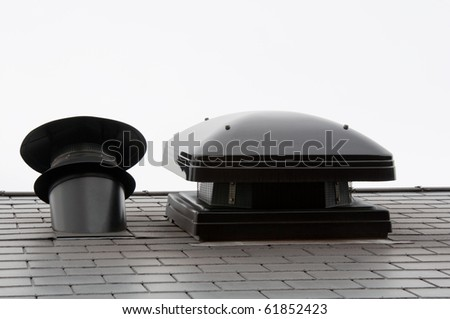 Roof vent/air conditioning outlet - stock photo