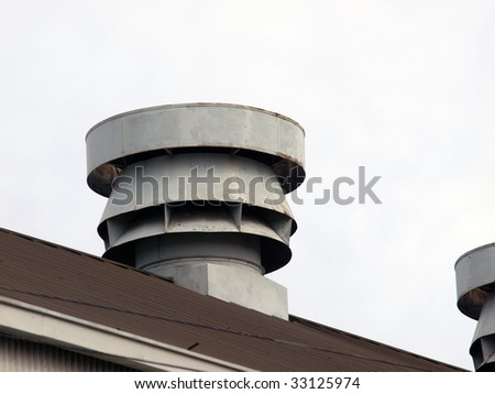 roof vents - stock photo