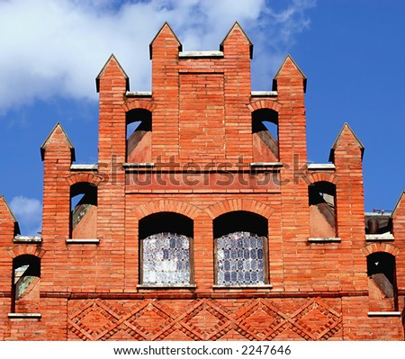 Roof, Villa Torlonia, Rome - stock photo