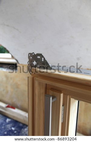 Roof window mounting for installation - stock photo