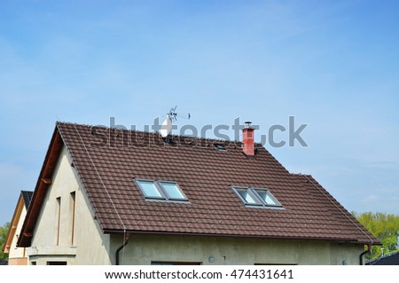 Roof window of a house, roofing building