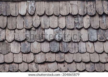 roof wood - stock photo