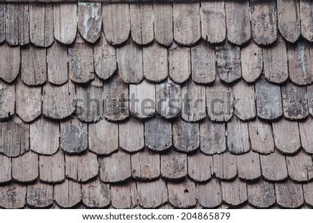 roof wood - stock photo