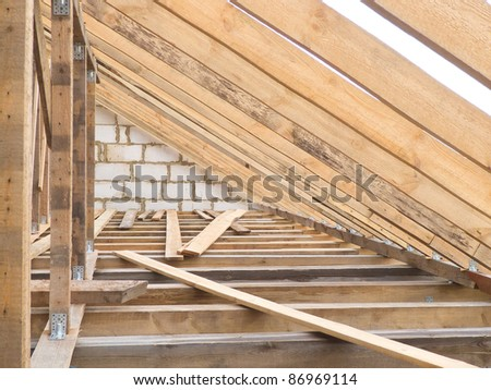 Roof wood farms - stock photo