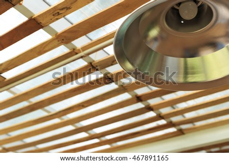 Roof wood with a texture