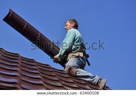 roofer - stock photo