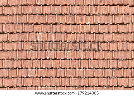 Roofing seamless texture - stock photo