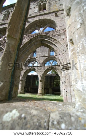 Roofless cathedral of Elgin, Scotland. - stock photo