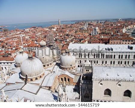 roofs in venezia - stock photo