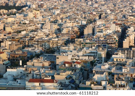 Roofs of Athens,Greece