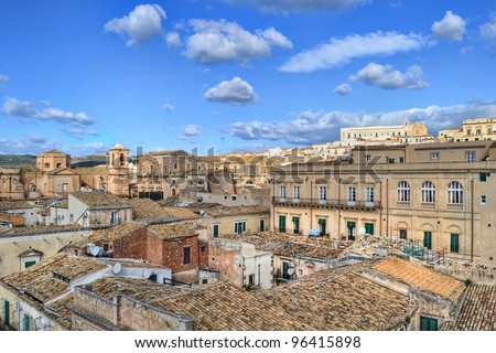 Roofs of Noto, Sicily