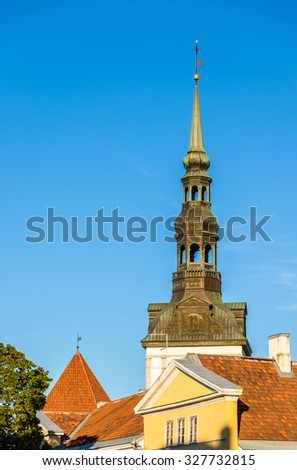 Roofs of the old town of Tallinn - Estonia